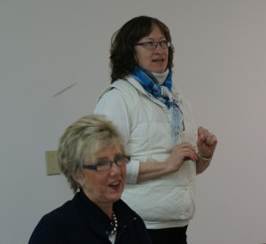 Co-Chairs Susan Wilcox and Jan Michaletz share event plans.